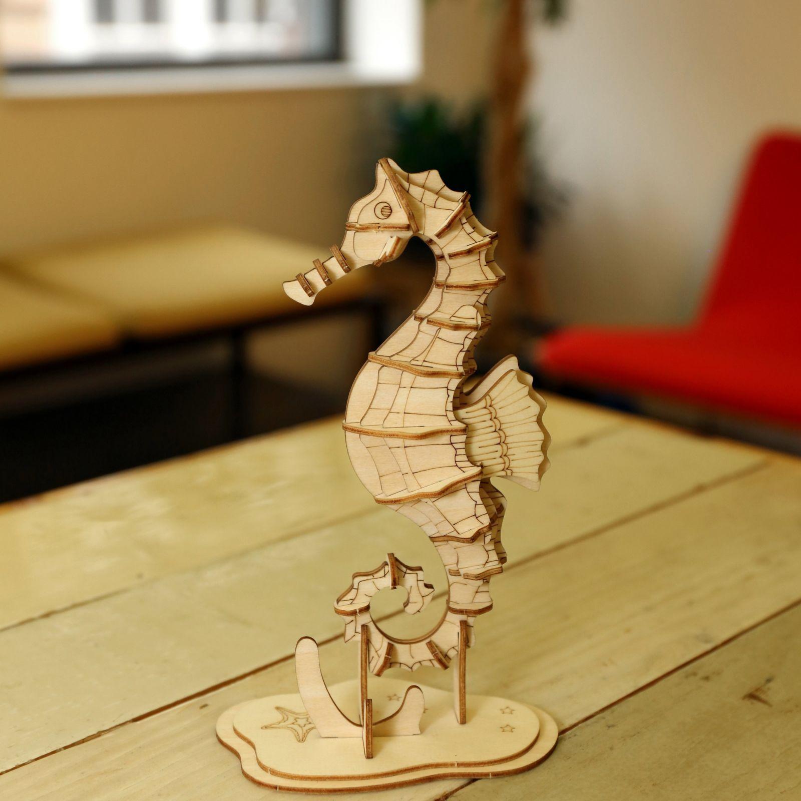 puzzle 3d hippocampe kikkerland