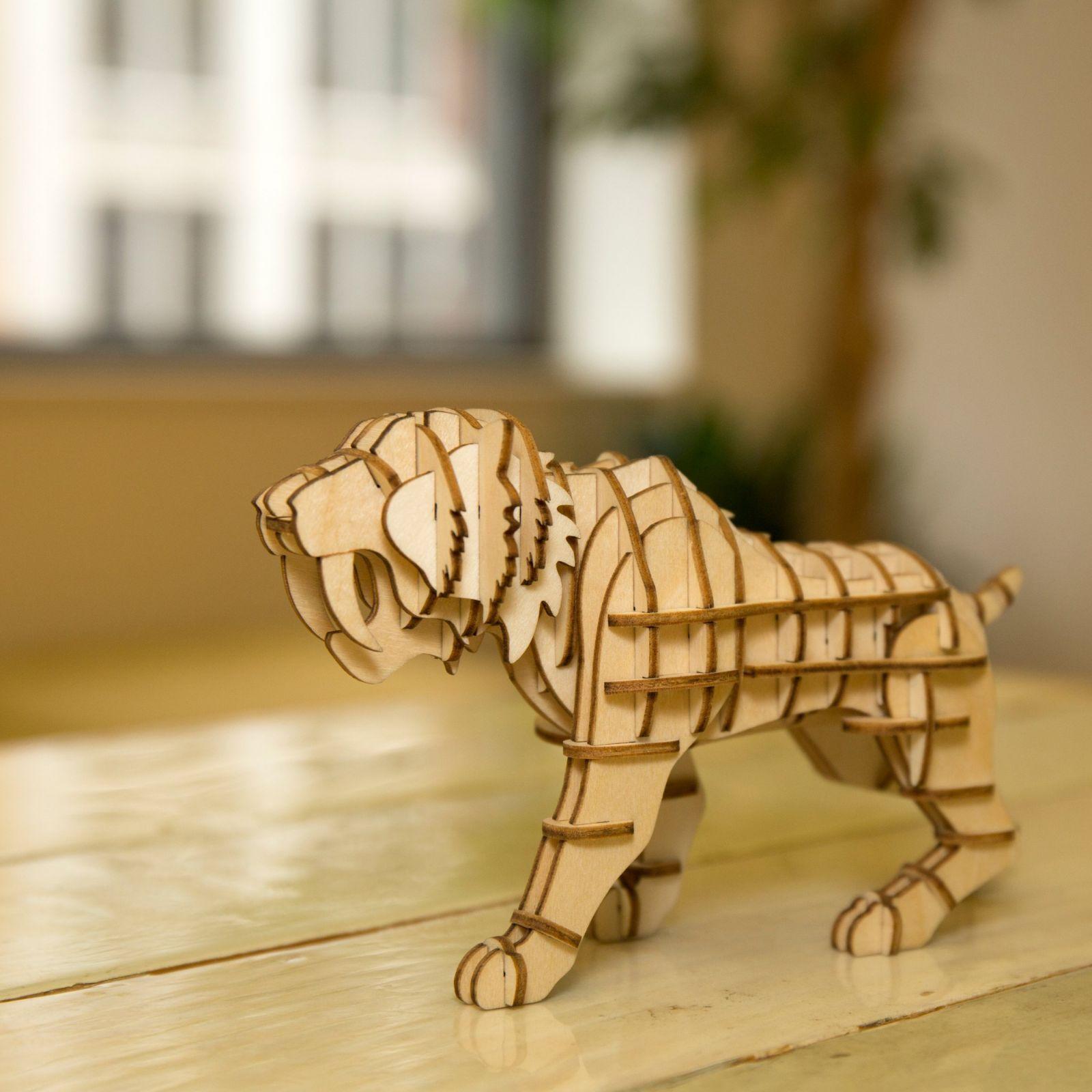 puzzle 3d tigre kikkerland