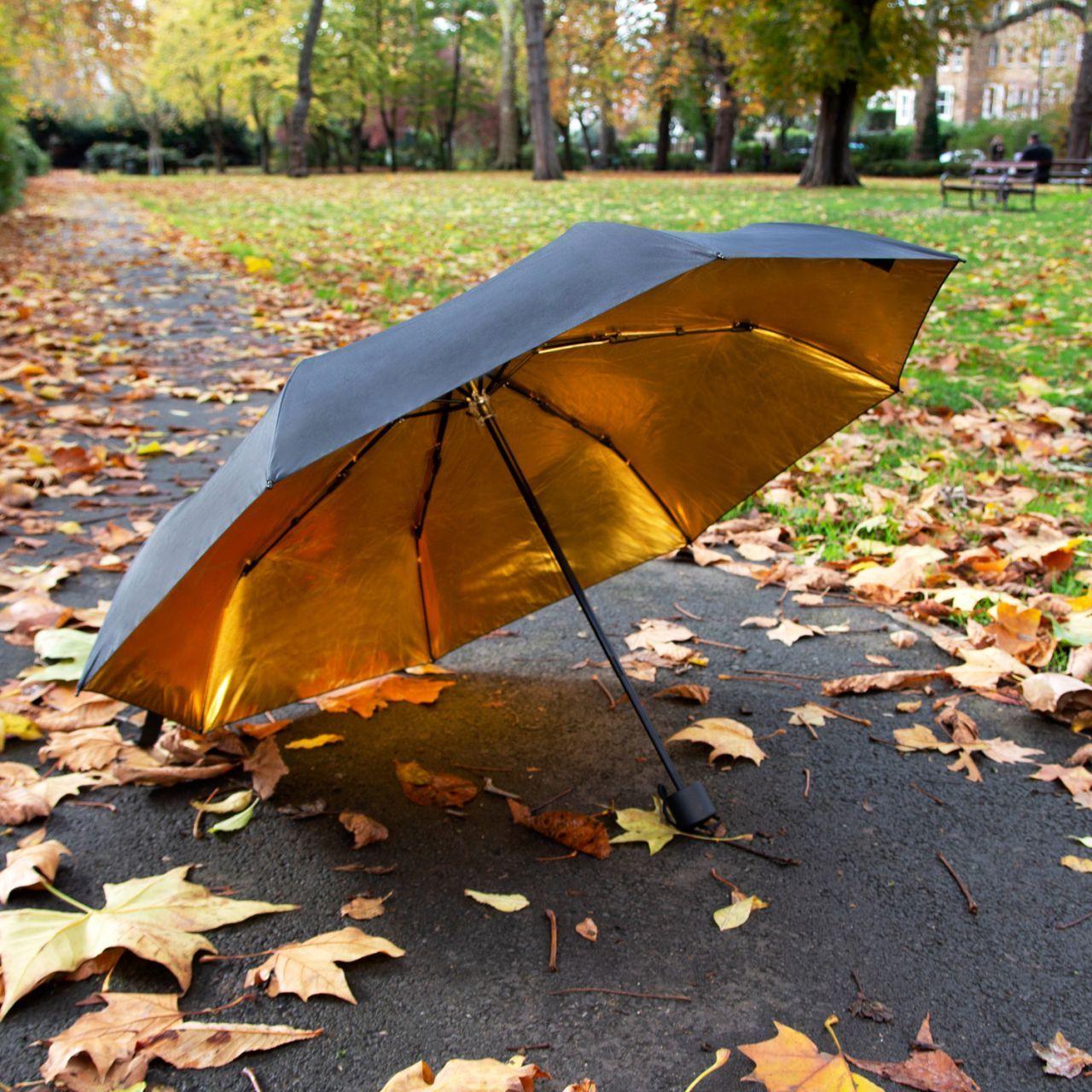 parapluie noir et or suck uk