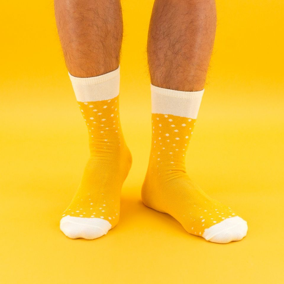 chaussettes bière lager luckies