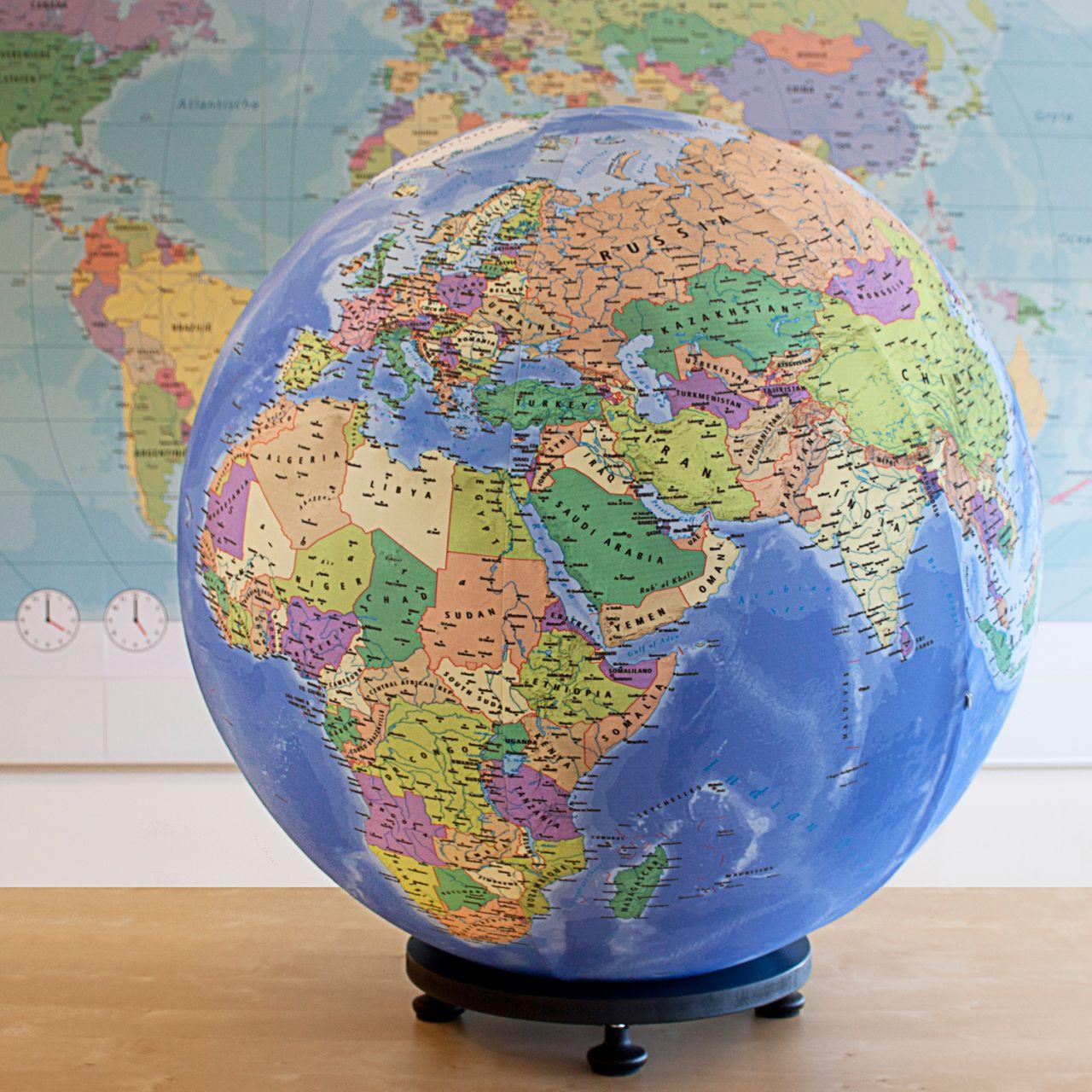globe gonflable géant
