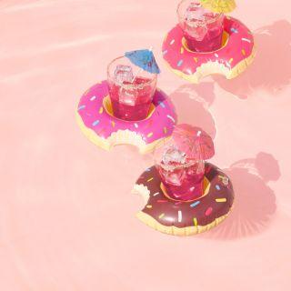 porte-boissons donut gonflable big...